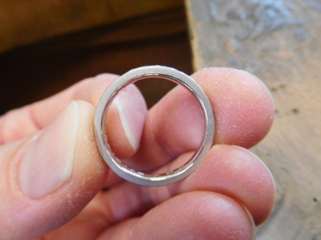 鍛造 指輪 つや消し
