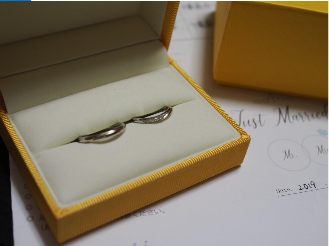 結婚指輪 ゴールドのライン