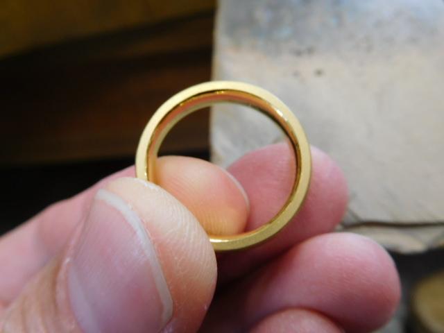 加工 純金 指輪