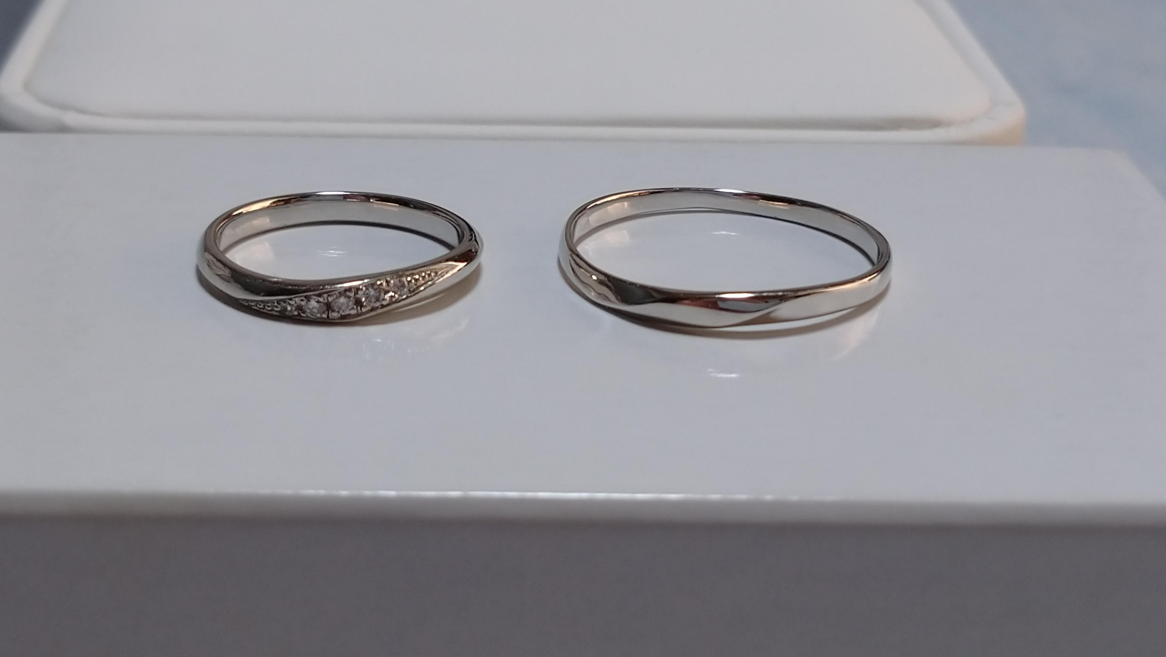 結婚指輪 シンプル ねじれ